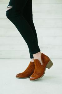side split bootie