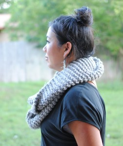 chunky hand knit infinity scarf buy 1 give 1 charity