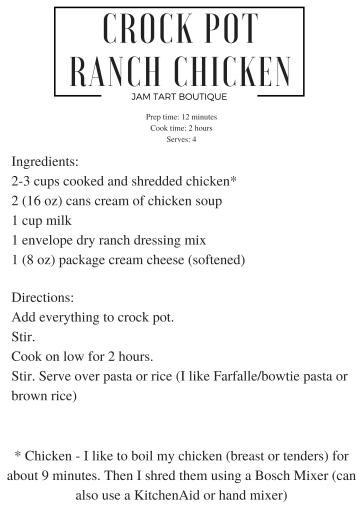 crock-pot-ranch-chicken easy dinner recipe