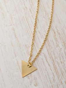 triangle gold minimal necklace