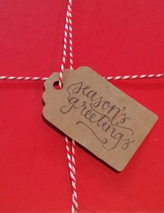 kraft gift hang tag seasons greetings
