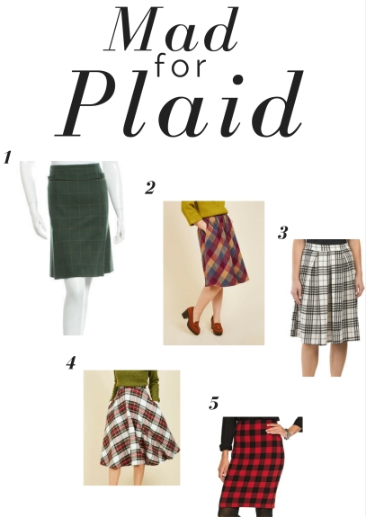 mad-for-plaid skirts for fall fashion