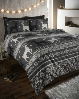 winter reindeer bedding
