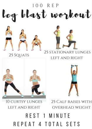 100 rep leg blast workout