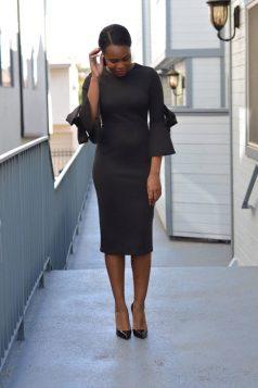 blackdress bell sleeves