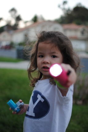 favorite family activity evening flashlight walks