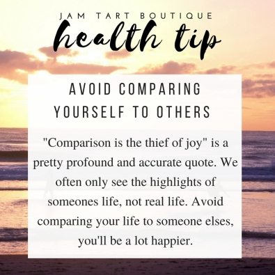 health tips avoid comparing yourself to others