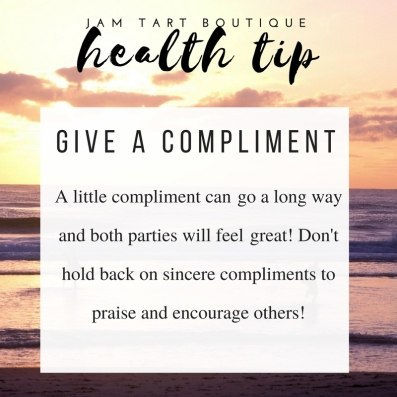 health tips give a compliment