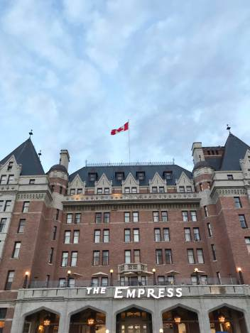 Victoria British Columbia Fairmount Empress Hotel