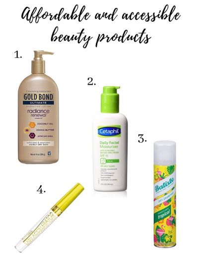 affordable and accessible beauty products