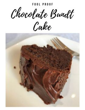 foolproof chocolate bundt cake easy recipe